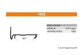 Tezgah Önü ve Baza Profili 1005