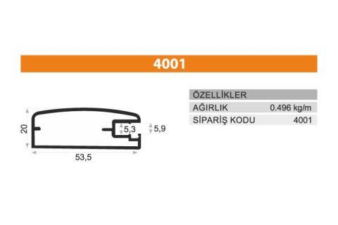 Frame Cover Profiles 4001