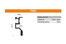 Sürme Kapak Profili 7001