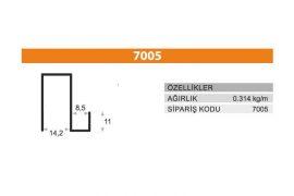 Sürme Kapak Profili 7005