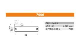 Sürme Kapak Profili 7006