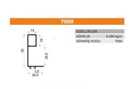 Sürme Kapak Profili 7009