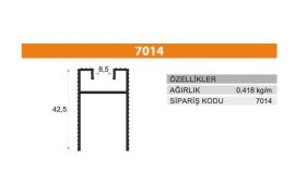 Sürme Kapak Profili 7014
