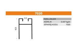 Sürme Kapak Profili 7020