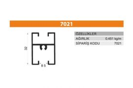 Sürme Kapak Profili 7021