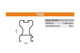 Sürme Kapak Profili 7022