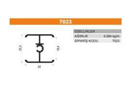 Sürme Kapak Profili 7023