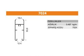 Sürme Kapak Profili 7024