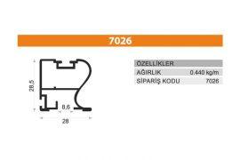 Sürme Kapak Profili 7026