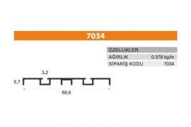 Sürme Kapak Profili 7034