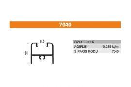 Sürme Kapak Profili 7040