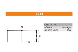 Sürme Kapak Profili 7044