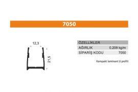Sürme Kapak Profili 7050