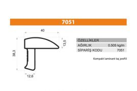 Sürme Kapak Profili 7051