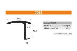 Sürme Kapak Profili 7052